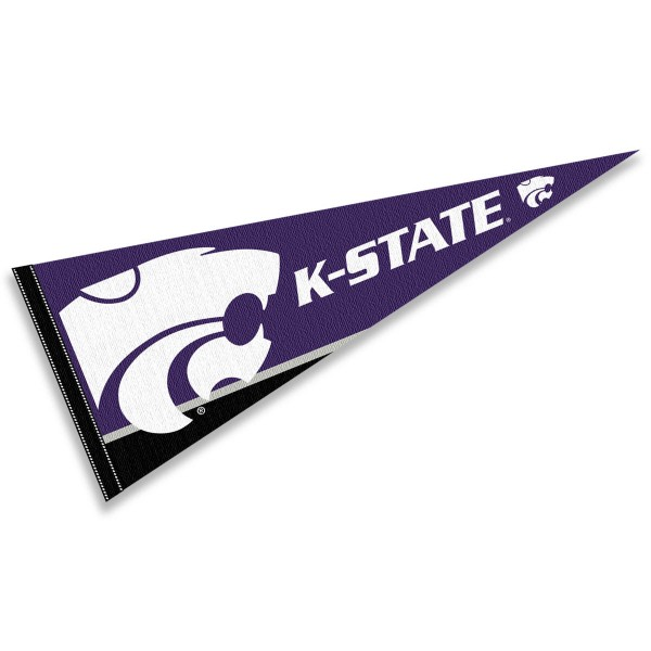 Kansas State University Pennant consists of our full size sports pennant which measures 12x30 inches, is constructed of felt, is single sided imprinted, and offers a pennant sleeve for insertion of a pennant stick, if desired. This KSU Wildcats Pennant Decorations is Officially Licensed by the selected university and the NCAA.
