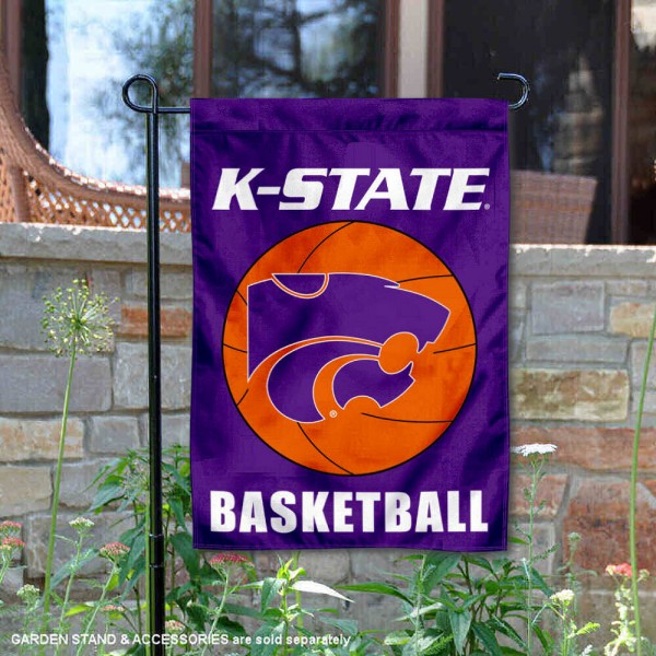 Kansas State Wildcats Basketball Garden Banner is 13x18 inches in size, is made of 2-layer polyester, screen printed athletic logos and lettering. Available with Same Day Express Shipping, Our Kansas State Wildcats Basketball Garden Banner is officially licensed and approved by the school and the NCAA.