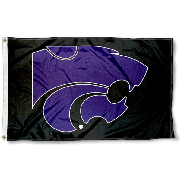 Kansas State Wildcats Blackout Flag measures 3'x5', is made of 100% poly, has quadruple stitched sewing, two metal grommets, and has double sided Team University logos. Our K State Blackout 3x5 Flag is officially licensed by the selected university and the NCAA.