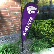 Kansas State Wildcats Feather Garden Flag