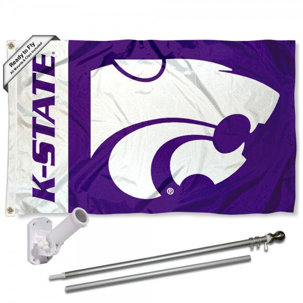 Kansas State Wildcats Flag Pole and Bracket Kit
