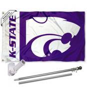 Kansas State Wildcats Flag Pole and Bracket Kit