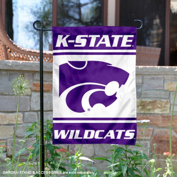 Kansas State Wildcats Garden Flag is 13x18 inches in size, is made of 2-layer polyester, screen printed logos and lettering. Available with Same Day Express Shipping, Our Kansas State Wildcats Garden Flag is officially licensed and approved by the NCAA.