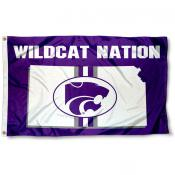 Kansas State Wildcats State Outline Flag
