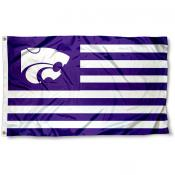 Kansas State Wildcats Striped Flag