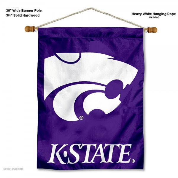 """Kansas State Wildcats Wall Banner is constructed of polyester material, measures a large 30""""x40"""", offers screen printed athletic logos, and includes a sturdy 3/4"""" diameter and 36"""" wide banner pole and hanging cord. Our Kansas State Wildcats Wall Banner is Officially Licensed by the selected college and NCAA."""