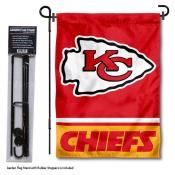KC Chiefs Garden Flag and Stand