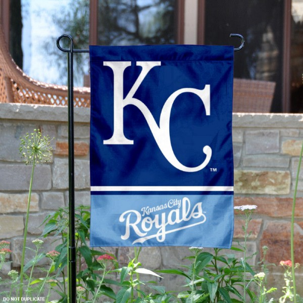 KC Royals Garden Flag is 12.5x18 inches in size, is made of 2-ply polyester, and has two sided screen printed logos and lettering. Available with Express Next Day Shipping, our KC Royals Garden Flag is MLB Genuine Merchandise and is double sided.