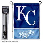 KC Royals Logo Garden Flag and Stand