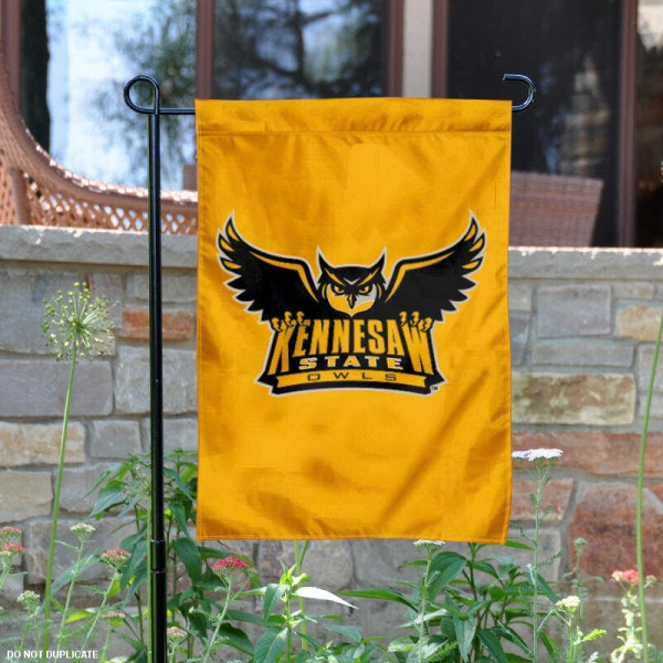 Kennesaw State University KSU Owls Garden Flag is 13x18 inches in size, is made of 2-layer polyester, screen printed Kennesaw State University KSU Owls athletic logos and lettering. Available with Same Day Express Shipping, Our Kennesaw State University KSU Owls Garden Flag is officially licensed and approved by Kennesaw State University KSU Owls and the NCAA.