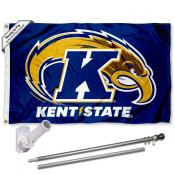 Kent State Golden Flashes Flag Pole and Bracket Kit