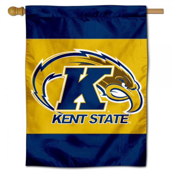 Kent State University House Flag is a vertical house flag which measures 30x40 inches, is made of 2 ply 100% polyester, offers dye sublimated NCAA team insignias, and has a top pole sleeve to hang vertically. Our Kent State University House Flag is officially licensed by the selected university and the NCAA