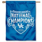 Kentucky Official Logo National Champs Banner Flag