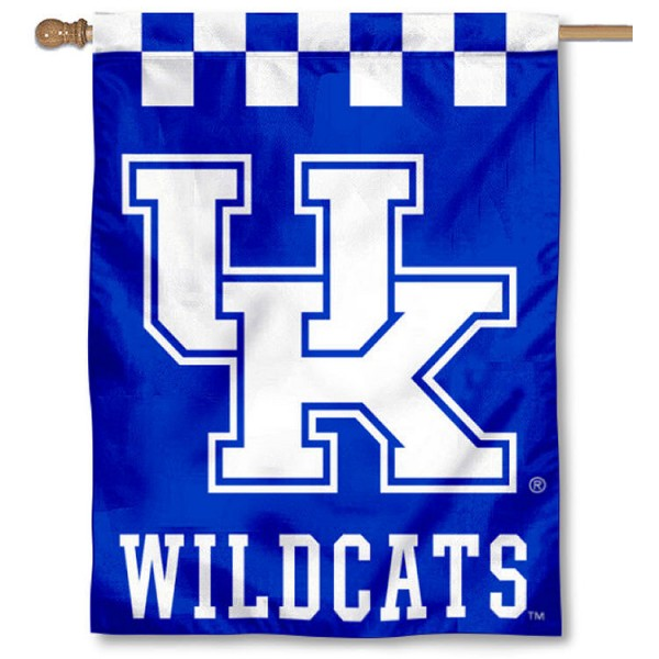 Kentucky UK Wildcats Checkerboard House Flag is a vertical house flag which measures 30x40 inches, is made of 2 ply 100% polyester, offers screen printed NCAA team insignias, and has a top pole sleeve to hang vertically. Our Kentucky UK Wildcats Checkerboard House Flag is officially licensed by the selected university and the NCAA.