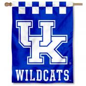 Kentucky UK Wildcats Checkerboard House Flag