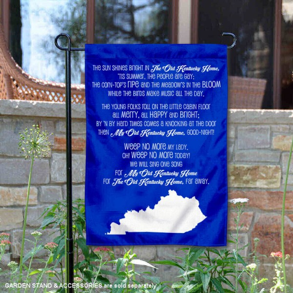 Kentucky UK Wildcats Fight Song Garden Flag is 13x18 inches in size, is made of thick blockout polyester, screen printed university athletic logos and lettering, and is readable and viewable correctly on both sides. Available same day shipping, our Kentucky UK Wildcats Fight Song Garden Flag is officially licensed and approved by the university and the NCAA.