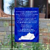Kentucky UK Wildcats Fight Song Garden Flag