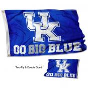 Kentucky UK Wildcats GO BIG BLUE Double Sided Flag