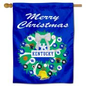 Kentucky UK Wildcats Happy Holidays Banner Flag