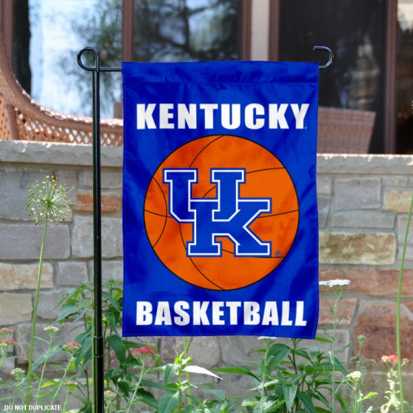 Kentucky Wildcats Basketball Garden Banner is 13x18 inches in size, is made of 2-layer polyester, screen printed athletic logos and lettering. Available with Same Day Express Shipping, Our Kentucky Wildcats Basketball Garden Banner is officially licensed and approved by the school and the NCAA.