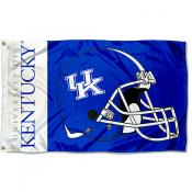 Kentucky Wildcats Football Helmet Flag