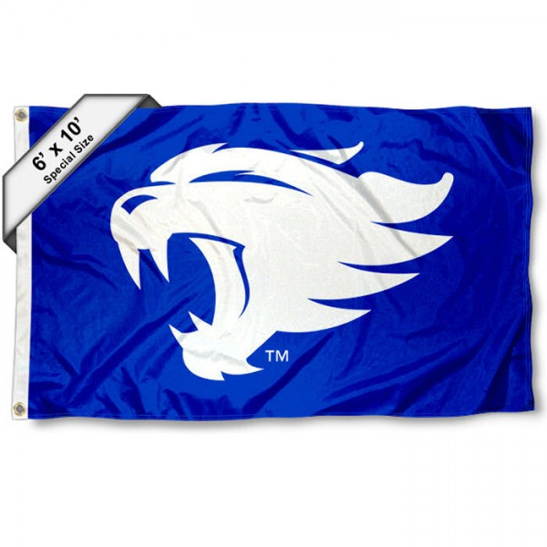 Kentucky Wildcats New Wildcat Logo 6'x10' Flag measures 6x10 feet, is made of thick poly, has quadruple-stitched fly ends, and Kentucky Wildcats logos are screen printed into the Kentucky Wildcats New Wildcat Logo 6'x10' Flag. This Kentucky Wildcats New Wildcat Logo 6'x10' Flag is officially licensed by and the NCAA.