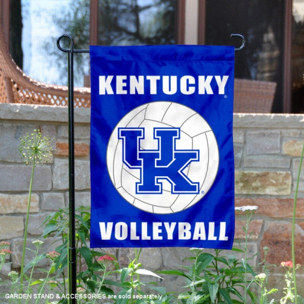 Kentucky Wildcats Volleyball Team Garden Flag is 13x18 inches in size, is made of 2-layer polyester, screen printed Kentucky Wildcats Volleyball athletic logos and lettering. Available with Express Shipping, Our Kentucky Wildcats Volleyball Team Garden Flag is officially licensed and approved by the University and the NCAA.