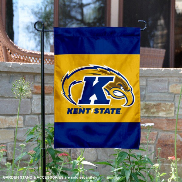 KSU Golden Flashes Garden Flag is 13x18 inches in size, is made of 2-layer polyester, screen printed university athletic logos and lettering. Available with Same Day Express Shipping, our KSU Golden Flashes Garden Flag is officially licensed and approved by the university and the NCAA.