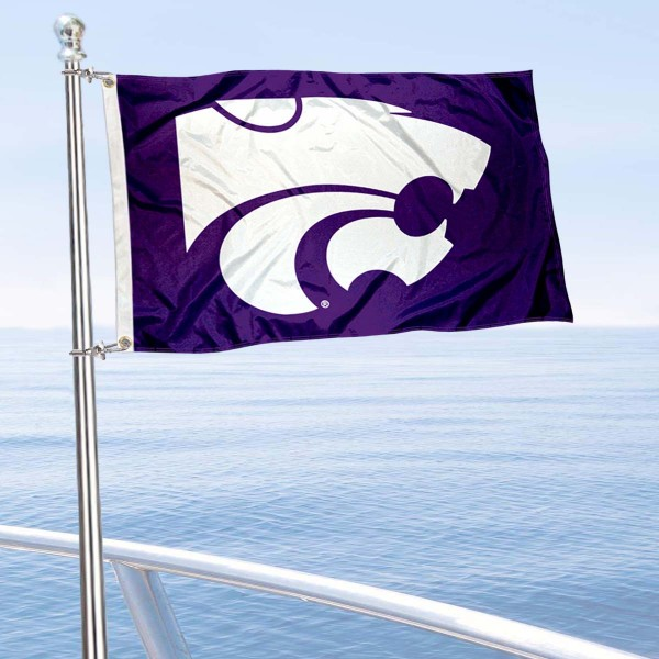 KSU Golf Cart Flag is a small 12x18 inches, made of 2-ply polyester with quad stitched flyends, and is double-sided. Our Golf Cart Logo Flags are Officially Licensed and Approved by Kansas State University and NCAA.