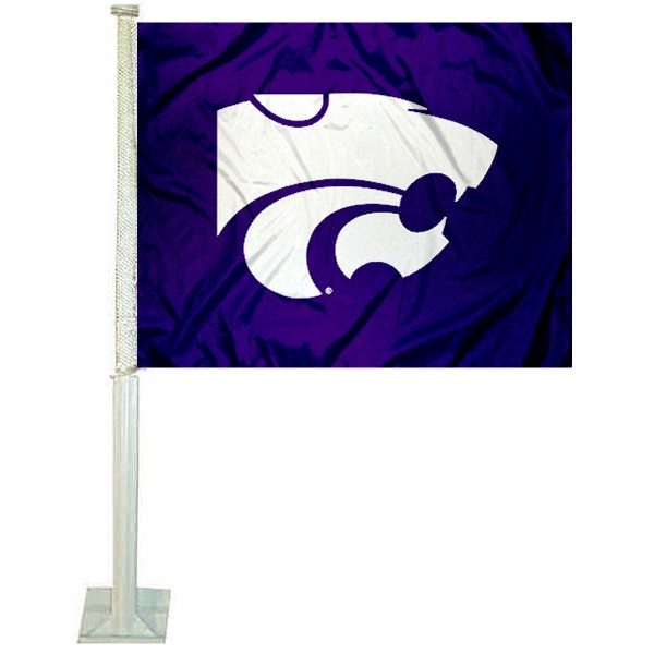 KSU Wildcats Car Window Flag measures 12x15 inches, is constructed of sturdy 2 ply polyester, and has screen printed school logos which are readable and viewable correctly on both sides. KSU Wildcats Car Window Flag is officially licensed by the NCAA and selected university.