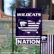 KSU Wildcats Garden Flag with USA Country Stars and Stripes