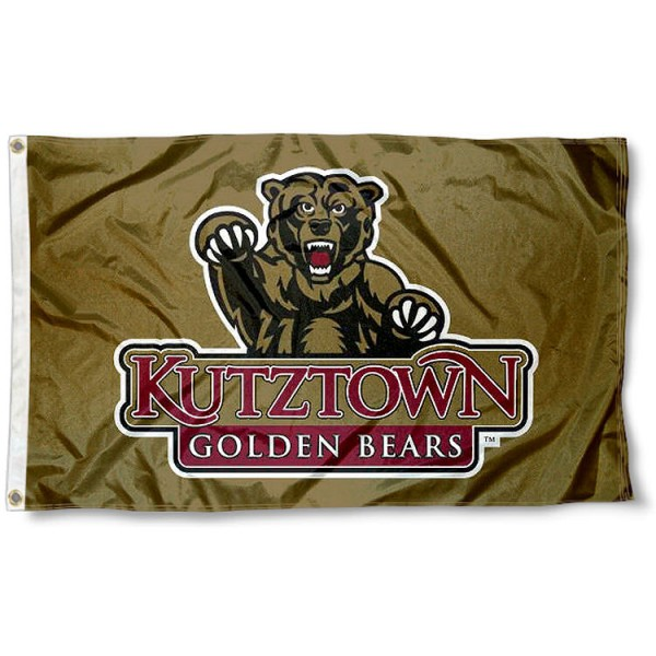 KU Bears Gold Logo Flag measures 3'x5', is made of 100% poly, has quadruple stitched sewing, two metal grommets, and has double sided Team University logos. Our KU Bears 3x5 Flag is officially licensed by the selected university and the NCAA.