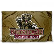 KU Bears Gold Logo Flag