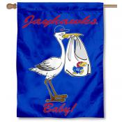 KU Jayhawks New Baby Flag