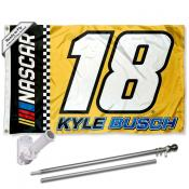 Kyle Busch Flag Pole and Bracket Mount Kit