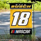 Kyle Busch NASCAR Driver Double Sided Garden Flag