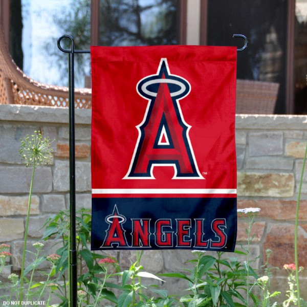 LA Angels Garden Flag is 12.5x18 inches in size, is made of 2-ply polyester, and has two sided screen printed logos and lettering. Available with Express Next Day Shipping, our LA Angels Garden Flag is MLB Genuine Merchandise and is double sided.