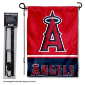 LA Angels Logo Garden Flag and Stand