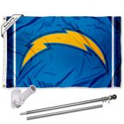 LA Chargers Flag Pole and Bracket Kit