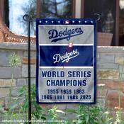 LA Dodgers 7-Time World Series Champions Garden Flag