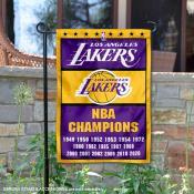 LA Lakers 17 Time NBA Champions Garden Flag