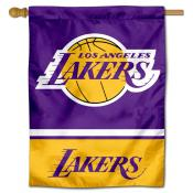 LA Lakers Primary Logo Double Sided House Flag