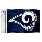 LA Rams 4x6 White Horns Flag