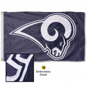 LA Rams Embroidered Nylon Flag