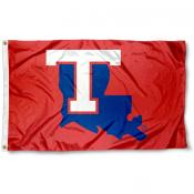 La Tech Bulldogs Red Logo Flag