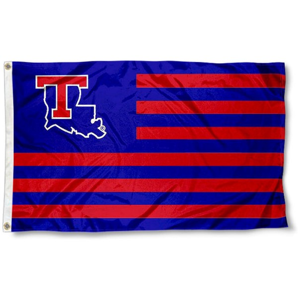 La Tech Bulldogs Stripes Flag measures 3'x5', is made of polyester, offers double stitched flyends for durability, has two metal grommets, and is viewable from both sides with a reverse image on the opposite side. Our La Tech Bulldogs Stripes Flag is officially licensed by the selected school university and the NCAA.