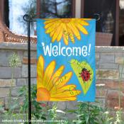 Lady Bug Flowers Garden Flag