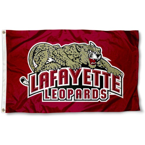 Lafayette Leopards Flag measures 3'x5', is made of 100% poly, has quadruple stitched sewing, two metal grommets, and has double sided Lafayette College logos. Our Lafayette Leopards Flag is officially licensed by the selected university and the NCAA