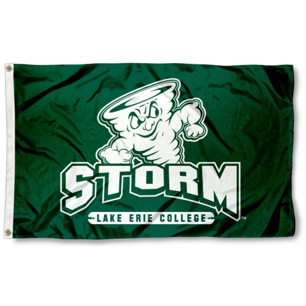 Lake Erie Storm Flag is made of 100% nylon, offers quad stitched flyends, measures 3x5 feet, has two metal grommets, and is viewable from both side with the opposite side being a reverse image. Our Lake Erie Storm Flag is officially licensed by the selected college and NCAA