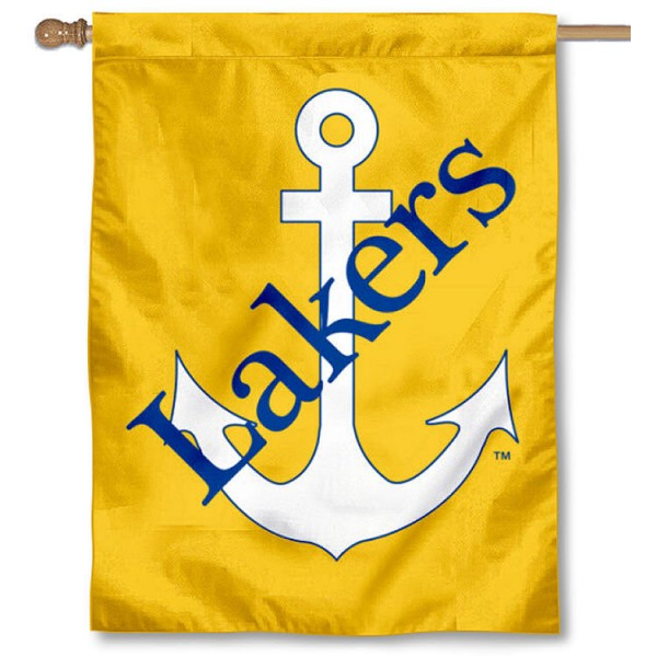 Lake Superior State Lakers House Flag is a vertical house flag which measures 30x40 inches, is made of 2 ply 100% polyester, offers screen printed NCAA team insignias, and has a top pole sleeve to hang vertically. Our Lake Superior State Lakers House Flag is officially licensed by the selected university and the NCAA.